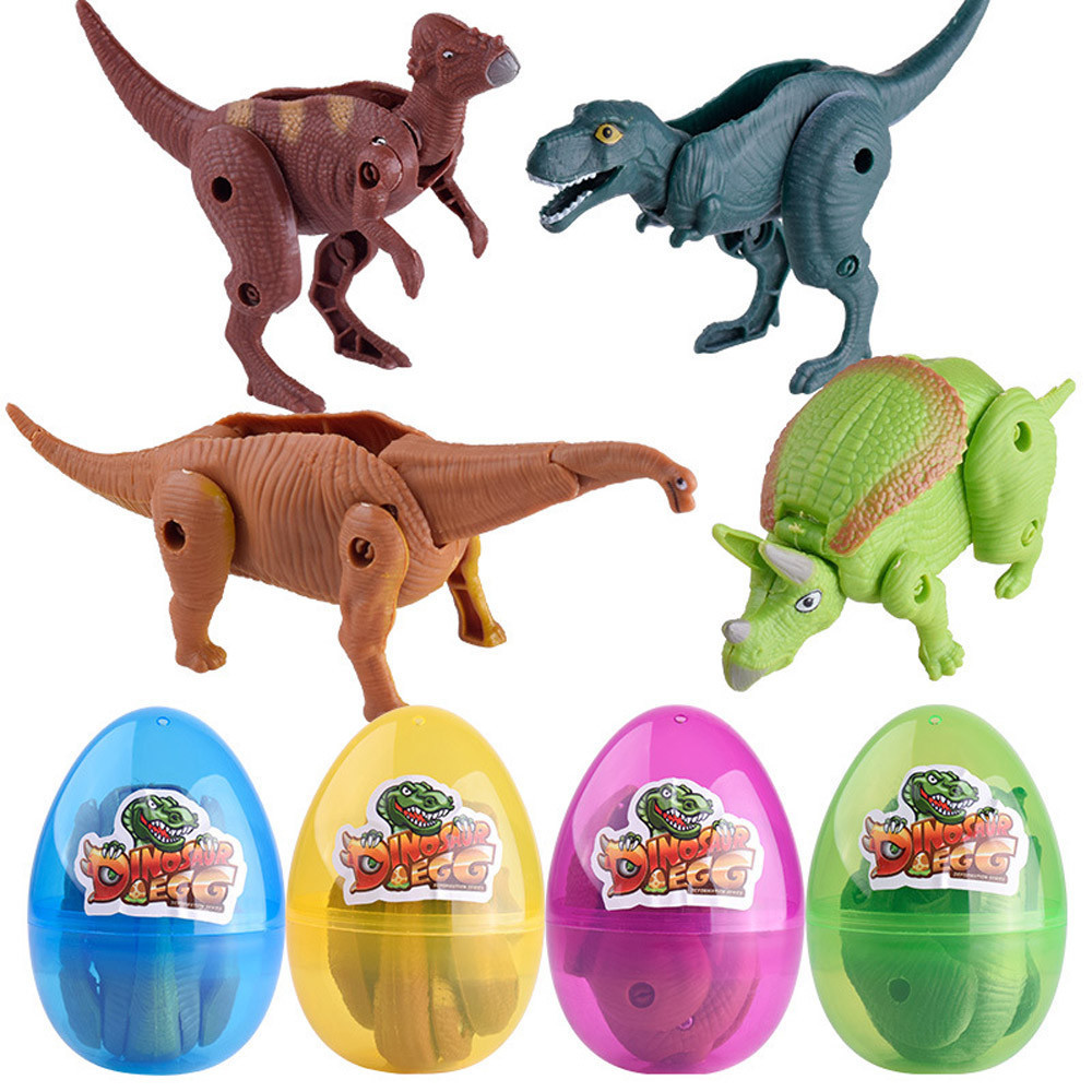Easter Surprise Eggs Dinosaur Toy Model Deformed Dinosaurs Egg Collection Toys For Children 50S8130 drop shipping dinosaurs carnotaurus classic toys for boys children toy animal model