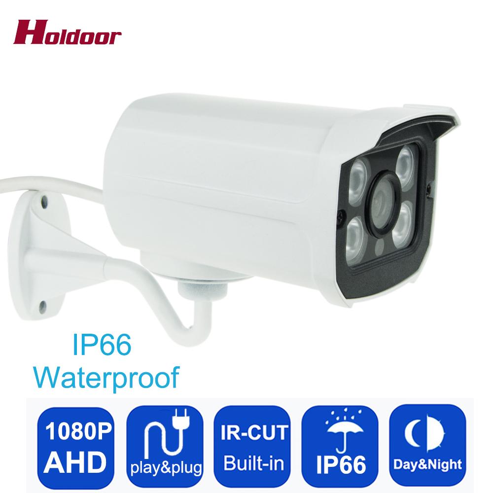 CCTV 2MP HD 1080P AHD Camera Security Metal Shell Video Surveillance Outdoor  Waterproof Infrared IR Night Vision 4 Array lights