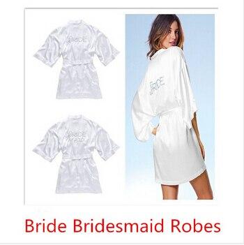 Aliexpress.com : Buy White Bridal Dressing Gown/ Kimono Bathrobes ...