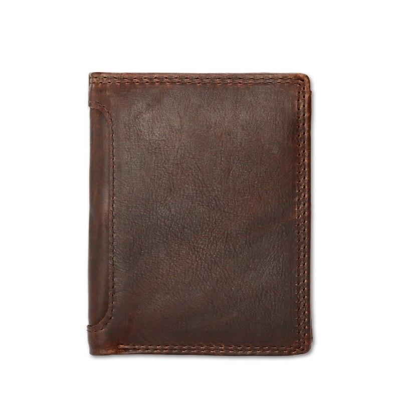 High Quality Men Wallet Genuine Leather Fashion Design Large Capacity Men Purses Cowhide Wallets Card Holder