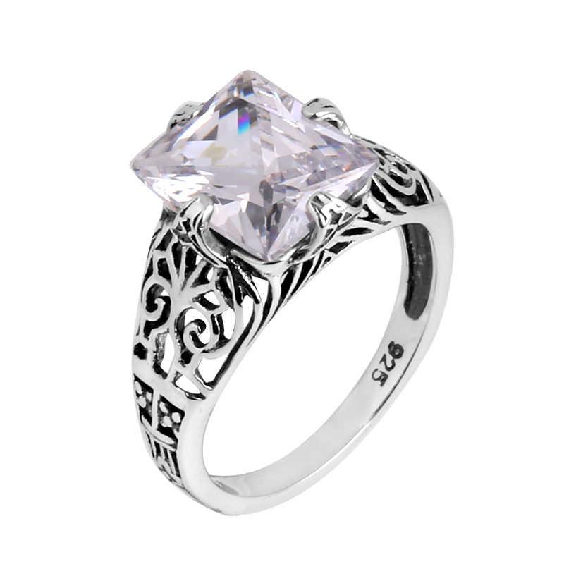 Szjinao ขายส่ง 925 sterling silver gold และ silver Victoria แหวน Zircon bague femme de marque de luxe