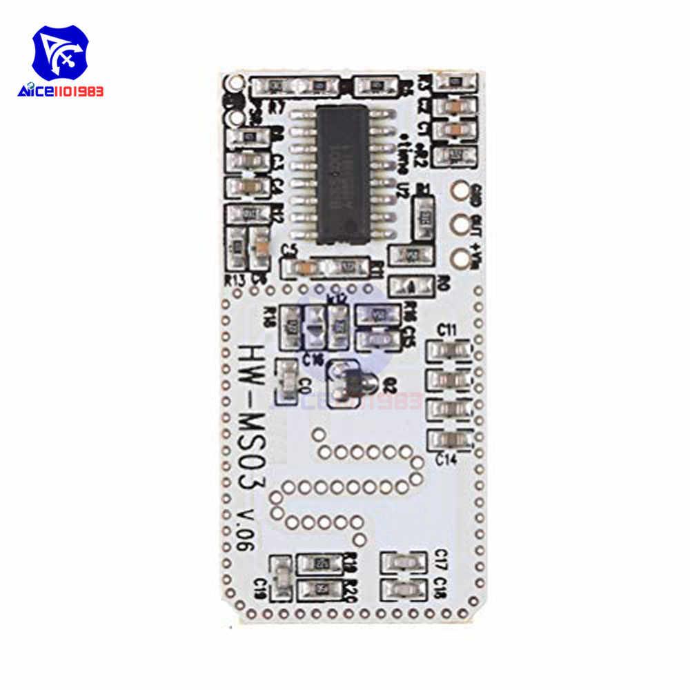 Высокопроизводительный Модуль датчика движения радар Датчик движения HW-MS03 2,4 ГГц до 5,8 ГГц радиочастотный модуль датчика радара для Arduino