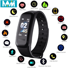 C1S Smart Bracelet Color-screen IP67 Fitness Tracker blood pressure Heart Rate Monitor band For Android IOS phone