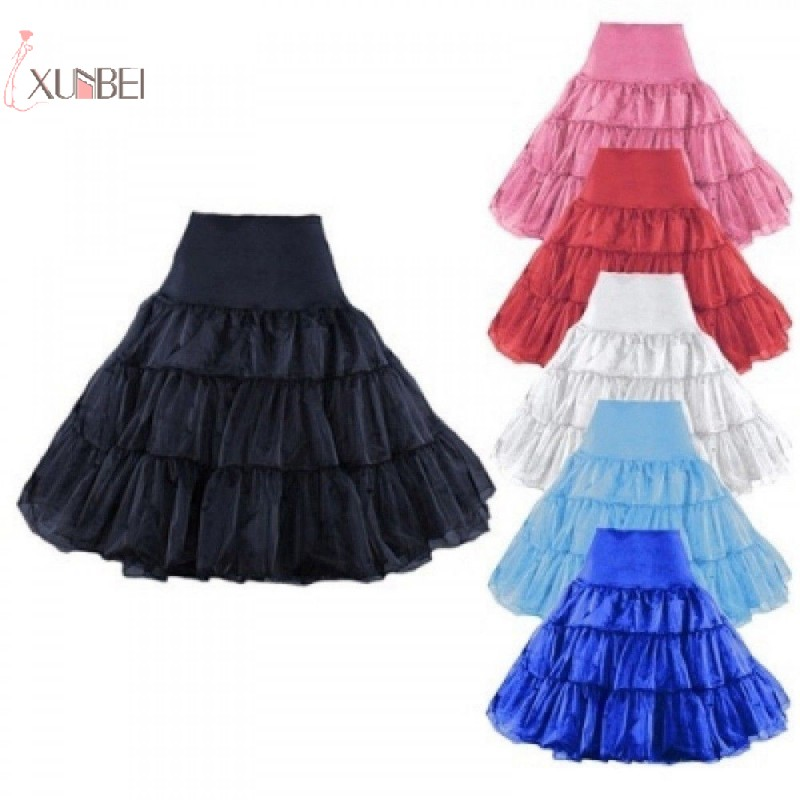 Vintage Short Cheap Bridal Wedding Petticoat Crinoline Tulle Skirt Rockabilly Tutu Underskirt Wedding Accessories New