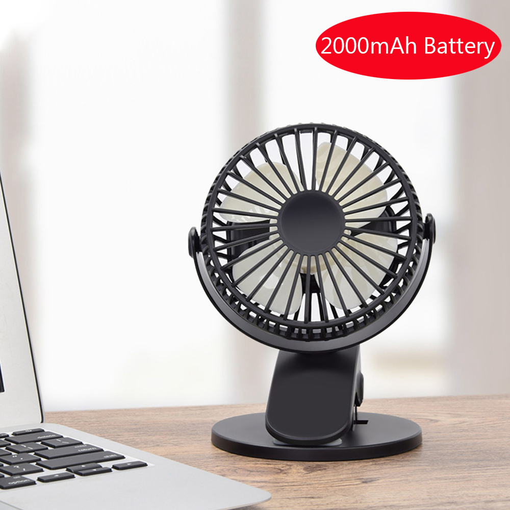 USB Fans Portable Desktop USB Fan Color : Blue Outdoor Travel Office Mini Clamp Silent Fan 360/° Rotating,Air Fan Home ABS Electric Computer Table Fan for Home