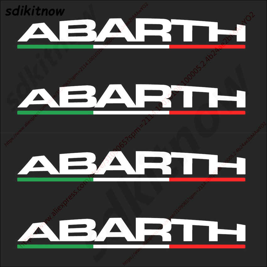 Fashion Italy 4pcs Car Sports Stickers Body Doorhandle Decals Styling For Abarth fiat 500 grande punto bravo doblo panda ducat