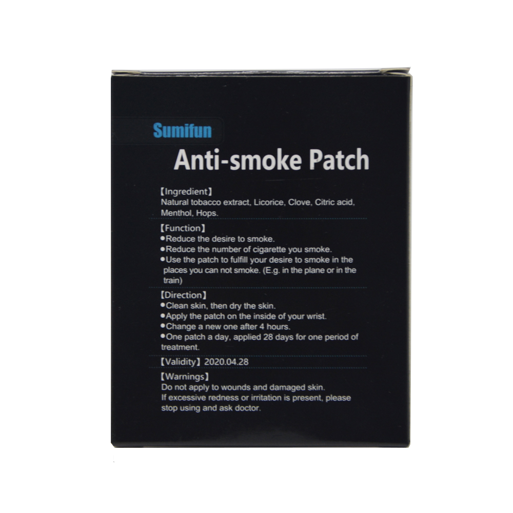105 Patches=3box Sumifun 100% Natural Ingredient Stop Smoking &Anti Smoke Patch Quit Smoke Cessation Health Therapy D0584 4