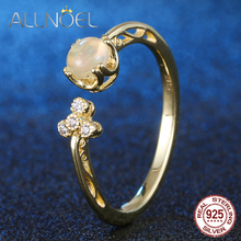 ALLNOEL Engagement Ring For Women 925 Sterling Silver Natural Gemstone Blue Topaz Moonstone Rose Quartz  Silver 925 Jewelry New beauties of emperor epozz nature gemstone series new quartz watch women 925 silver bead jewelry watches pearl bracelet h0721s1