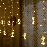 LED String Lights Ball Curtain String Fairy Light Backyard Patio Decorative Outdoor Garland Wedding Party Christmas Decor Lights