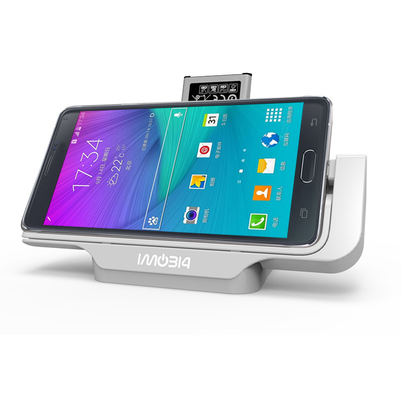 BrankBass Horizontal Dual Desktop Charging Cradle Battery Docking Station Charger Dock for Samsung Galaxy Note 4