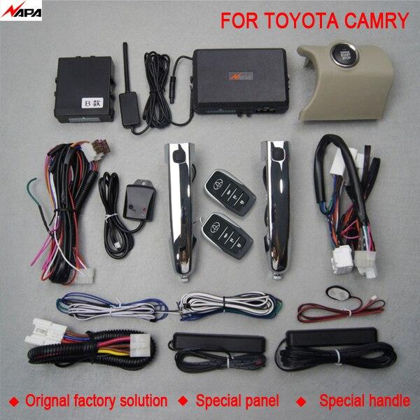Démarrage automatique sans clé de voiture avec poignée intelligente déverrouiller le système d'alarme de démarrage à distance pour toyota camry