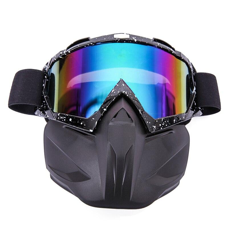 Hot Brand Men Women Ski Snowboard Eyewear Motorcycle Motocross Racing Goggles Outdoor Sports Skiing Glasses Detachable Mask