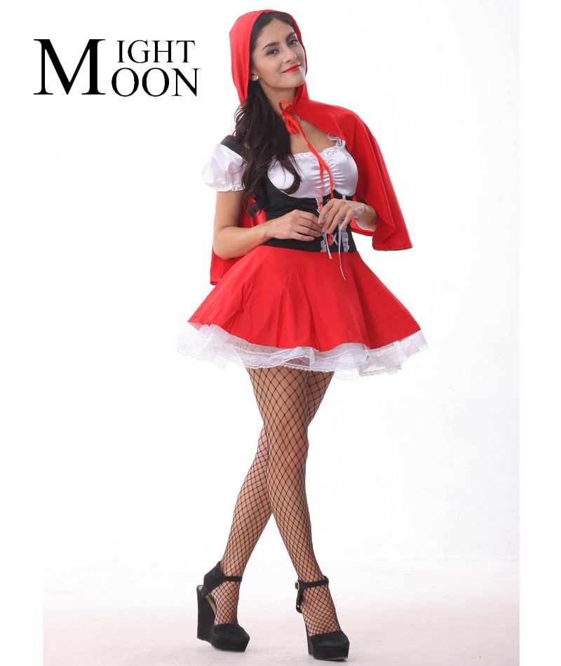 Moonight New Little Red Riding  Hood Hood Halloween Cosplay Clothing Fairy Tale -7479