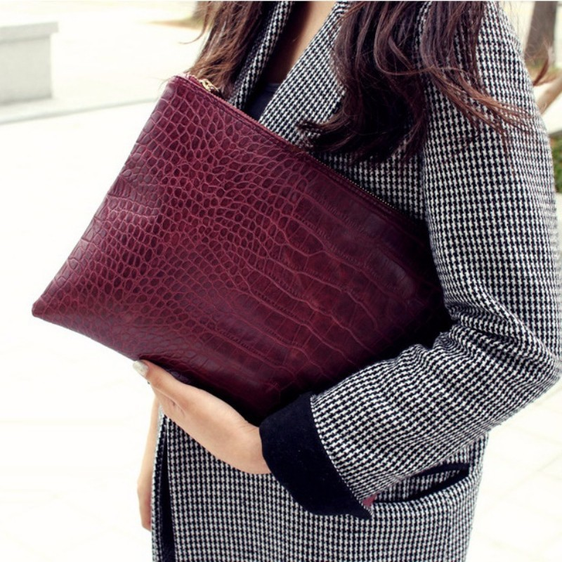 Aliwood Famous Brand Bag Women Day Clutches Alligator Crocodile Leather Bag Envelope Bags Women Clutch Bag Female Handbag Bolsas сумка через плечо bolsas femininas couro sac femininas couro designer clutch famous brand