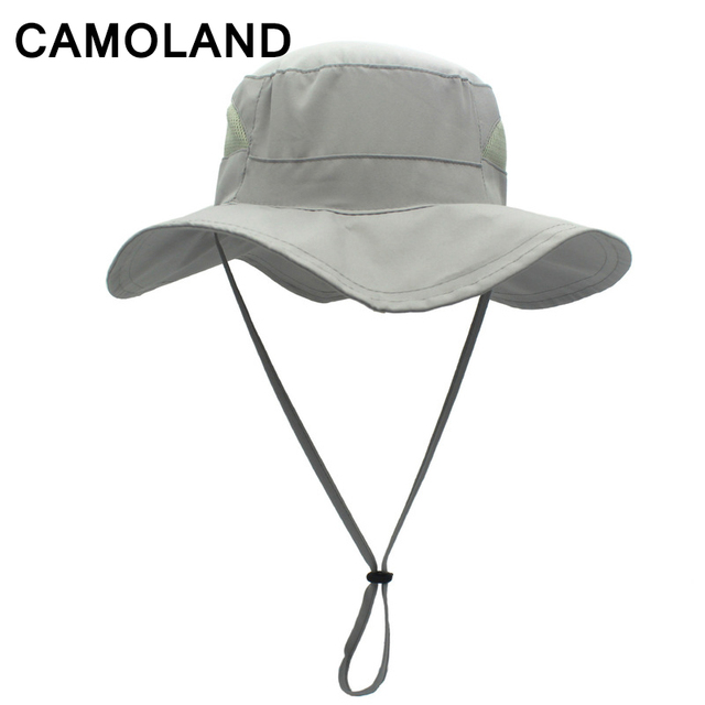 7ba3b634acc Fishing cap for men Mesh caps UPF50+ Male Summer hat Outdoor Safari hats  women Bucket Hat Breathable Foldable Hiking Adjustable