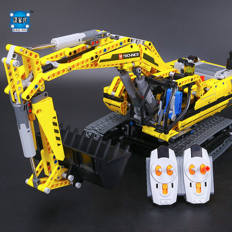 New LEPINE Technic Series 1123pcs Excavator Model Building Blocks Bricks Compatible Toy Christmas Gift Educational Figures Car lepine 16008 cinderella princess castle 4080pcs model building block toy children christmas gift compatible 71040 girl lepine