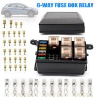 12 Slot Fuse Relay Box with 12V 40A Relay Fuses for Automotive Marine XR657