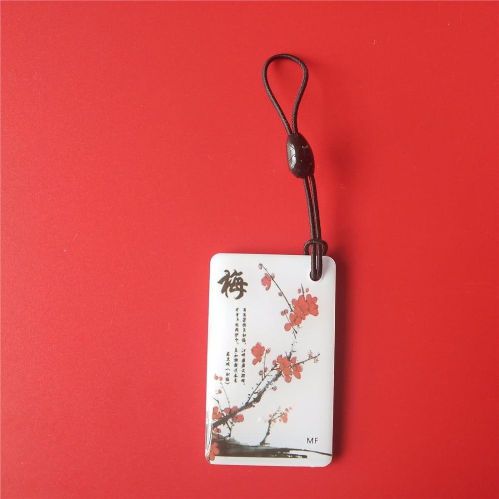 EM Card Key Fob Re-writable 125KHZ EM4305 Rfid Copy Card Shape Card Keyfob Tags Plum cmyk offset printing custom shape plastic qr barcode die cut combo card 1 key tags 200pcs lot