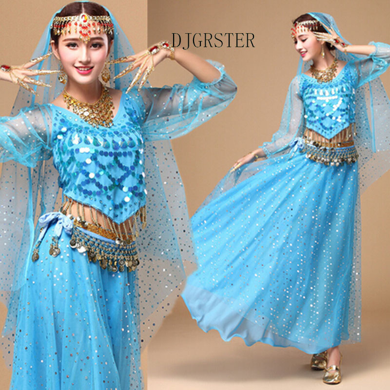 DJGRSTER 6 Colors 5-Piece/set Stage Performance Oriental Belly Dancing Clothes Professional Bellydance Costume Design For Women
