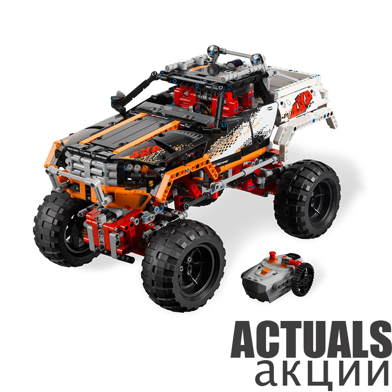 Lepin 20014 Technic Series Ultimate Version The Remote-Control Four-Wheel Drive Off-road Vehicles Building Block Brick Toys 9398 advanced intelligent vehicles control