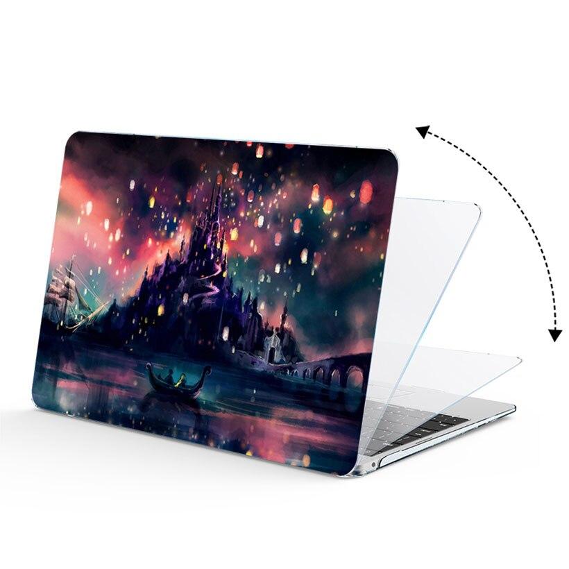 עבור apple קשיח ניידת הדפסת 3in1 Case מעטפת + מקלדת הכיסוי + מסך הקולנוע עבור Apple MacBook Air Pro Retina Touch בר & ID 11 12 13 15 אינץ (3)