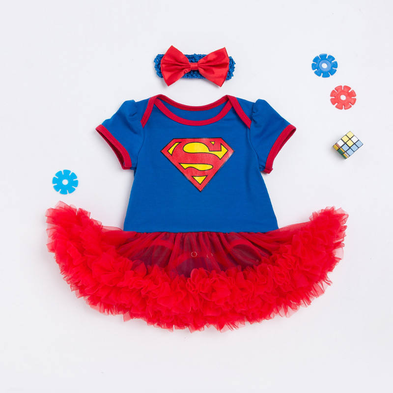 Provided Newborn Baby Girls Christmas Costumes Tutu Dress Baby Romper Batman Clothing Superman Clothes Infant Party Outfits 2pcs/sets Buy One Get One Free Bodysuits & One-pieces