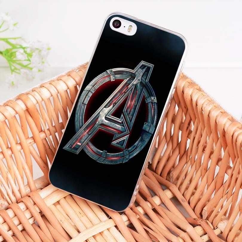 Maiyaca Komik Marvel Logo Terbaru Ponsel Case untuk iPhone SE 2020 11 Pro 8 7 66S Plusx 10 5S SE 5C XS XR X Max Handphone Pouch