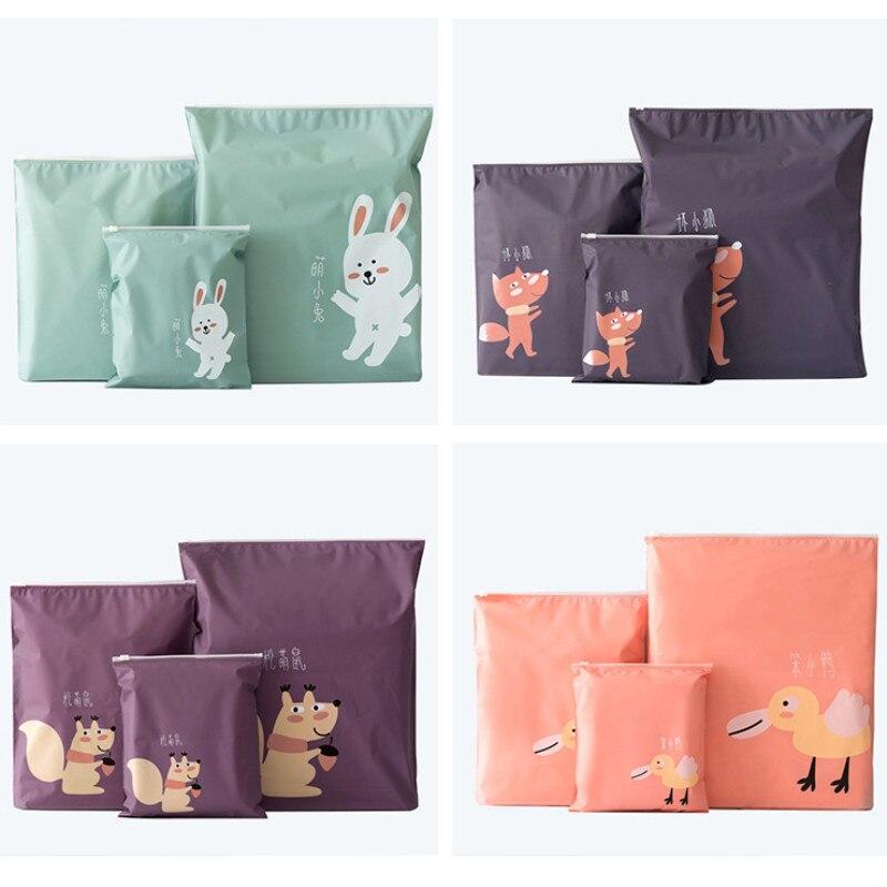 Travel PVC Cosmetic Storage Bags Zipper Cartoon Makeup Bag Organizer Women Beauty Toiletry Kits  Bath Wash Make Up Case