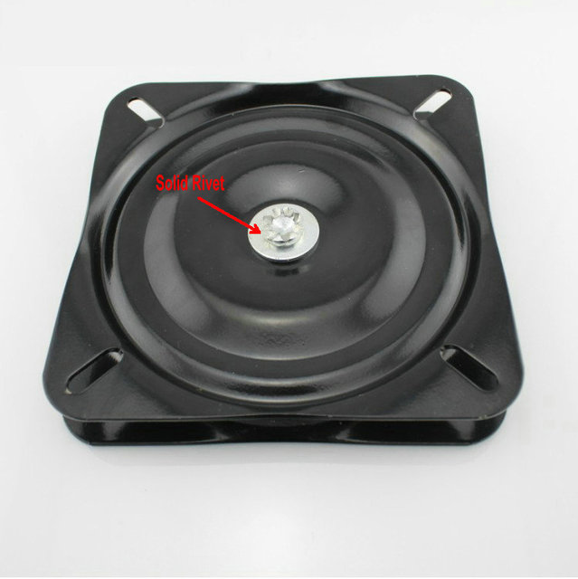 Free Shipping Wholesale 6Inch(150MM) Black Lacquer Baked and Solid Steel Ball Bearing Swivel Plate, Turn Plate, Swivel Turntable