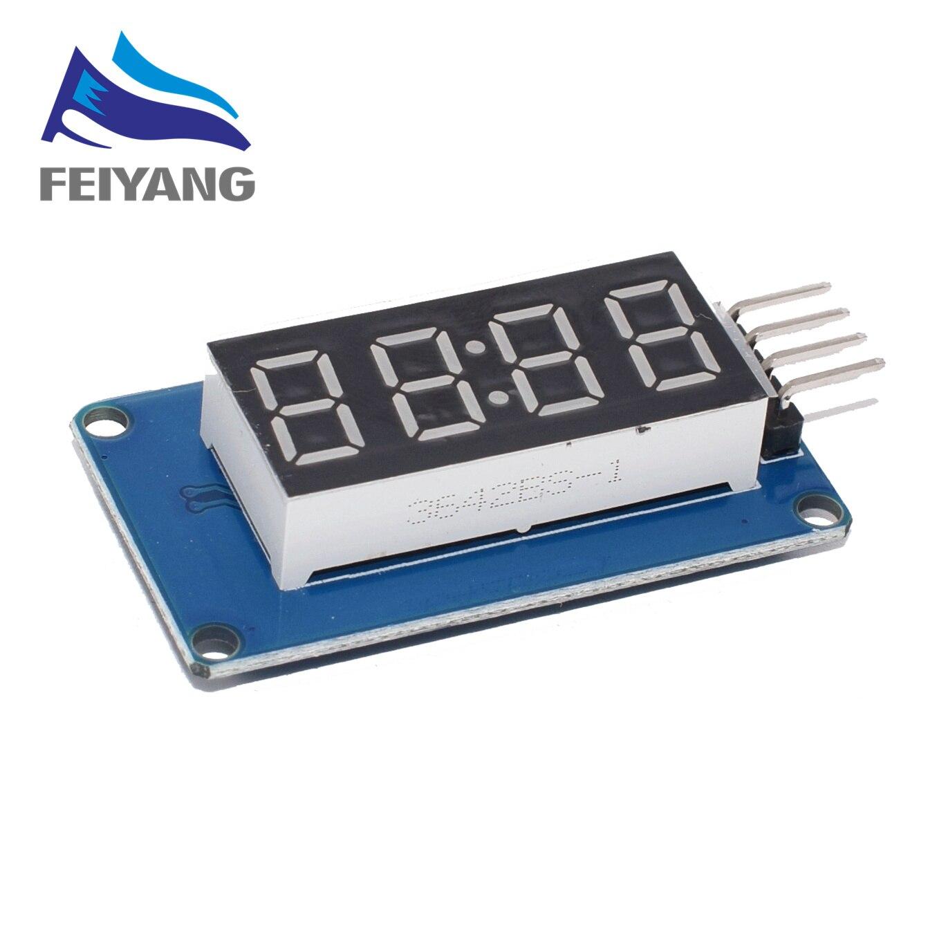 4 Bits digital Rohr LED-Anzeigemodul Uhranzeige TM1637 für Arduino