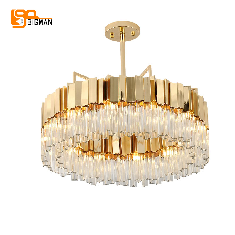 New arrival modern crystal chandelier LED light AC110V 220V gold dinning room living room hanglamp new design rgb led crystal light modern dinning room crystal chandelier with remote control