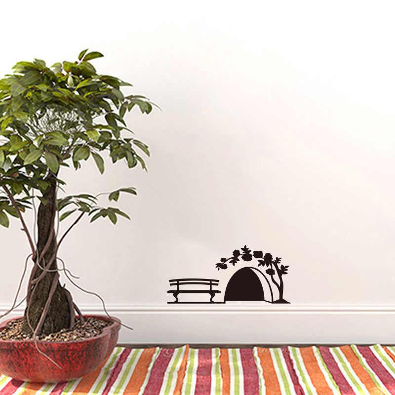 ขนาดเล็ก Mouse hole สติ๊กเกอร์ติดผนังตู้ Home Decor ศิลปะเด็กตกแต่งห้องพัก Creative PVC สติกเกอร์แกะสลักบนผนัง