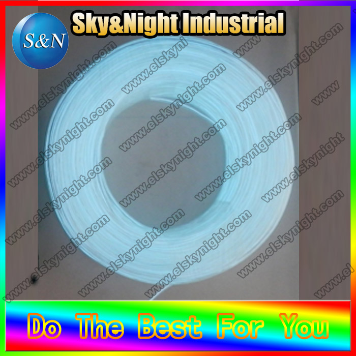 2017Hot Selling EL Products 100m 3.2mm white Neon Rope Tube EL Glowing wire/EL Flashing wire/EL Wire+Free shipping