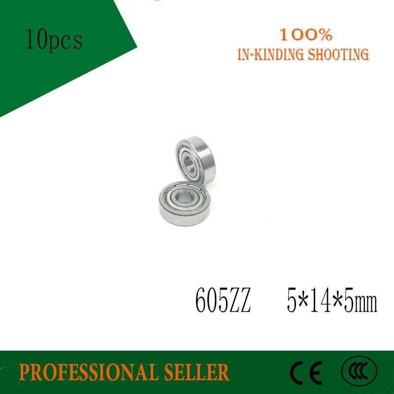 10 шт. 605ZZ 5*14*5 мм Миниатюрный подшипник 605-2Z 605-Z 605 подшипник 5x14x5 мм для игрушки/машина