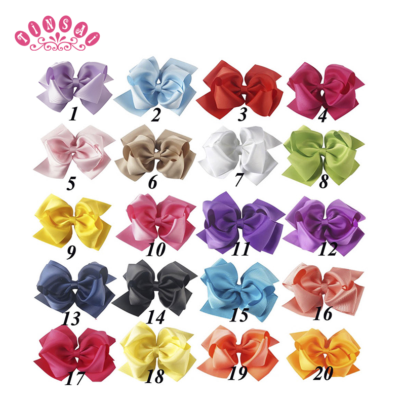 Hair Accessories Back To Search Resultsmother & Kids Tinsai 20pc 5 Girls Boutique Hair Bows Handmade Ribbon Hair Bow With Clip For Kids Hair Accessories Pinzas Para El Cabello Durable Service