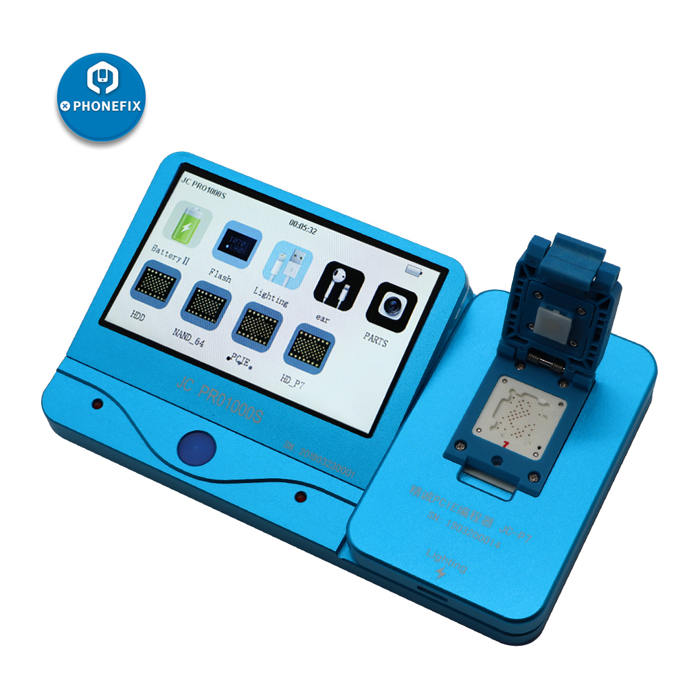 PHONEFIX JC Pro1000S JC P7 PCIE NAND Programmer SN Read Write Memory Upgrade Error Repair Tool For IPhone 6s 6SP 7 7P IPad Pro