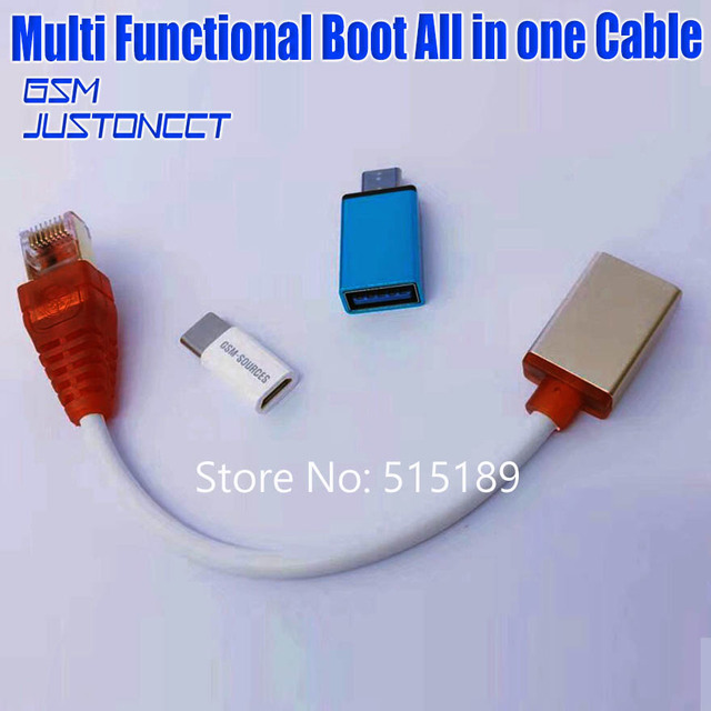 Multi function Boot All in one Cable ( EASY SWITCHING ) Micro USB RJ45 All in One Multi function Boot Cable edl cable