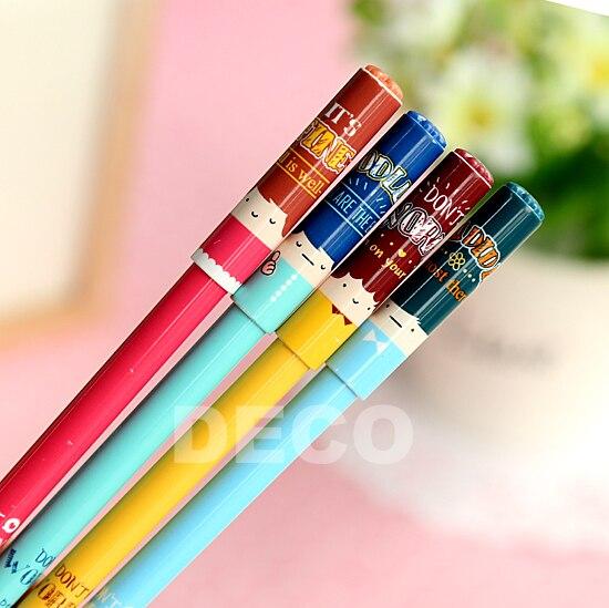 1 шт. детское лицо дизайн гелевая ручка для детей школьные канцелярские Kawaii Ручки школьные принадлежности (ss-a806)