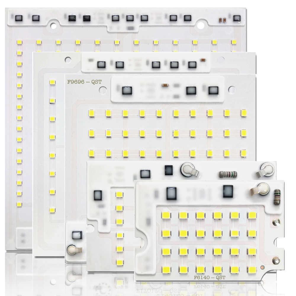 5 sztuk/partia LED 2835 SMD CHIP 10 W 20 W 30 W 50 W 100 W AC220V z inteligentnym układem scalonym SMD CHIP dla DIY reflektor lampa zewnętrzna