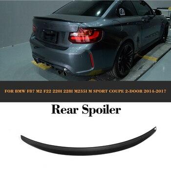 2 serie In Fibra di Carbonio Posteriore Boot Lid Ala Spoiler per BMW F22 F87 M2 Coupe 14-17 220i 228i m235i M Sport Linea Car Styling