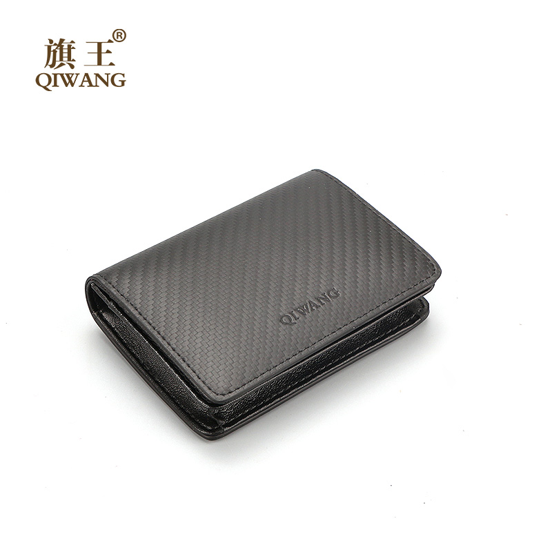 Qi Wang Genuine Leather Men Wallets Short Coin Purse Small Mini Wallet Cowhide Leather Card Holder Pocket Coin Purse Men Wallets joyir men crazy horse leather wallet genuine cowhide men wallets vintage men s purse card holder coin pocket wallets money purse