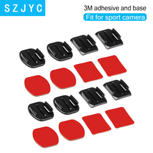 Flat Curved Base Mount and Adhesive Stickers for GoPro Hero 7 5 6 Xiaomi Yi 4K Sjcam Sj4000 Go Pro Accessory