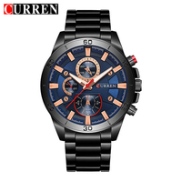 Mens Watches Curren Brand Luxury Gold Black Steel Quartz Watch Men Fashion Casual Business Wristwatches Relogio
