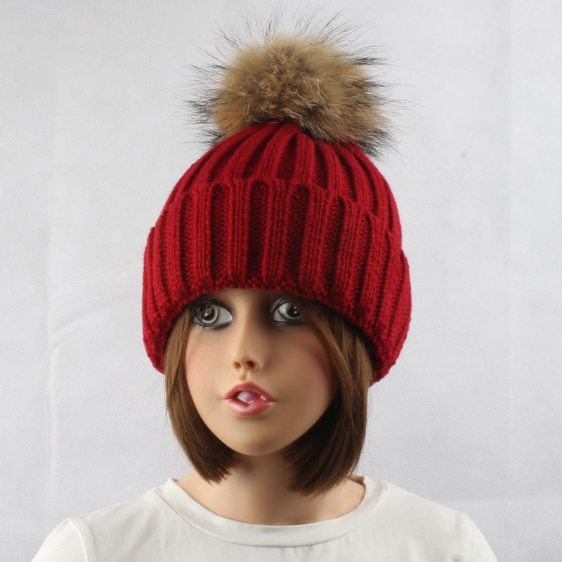 FURANDOWN Musim Dingin Tebal Hangat Wol Knitting Beanie Topi Untuk - Aksesori pakaian - Foto 5