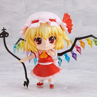 NEW hot 10cm Q version TouHou Project Flandre Scarlet movable Nendoroid Mini Action figure toys collection christmas toy doll with box