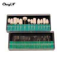 CkeyiN ongles Salon outils ongles forets ensemble 3/32 taille de tige pour manucure pédicure Machine accessoire professionnel lime à ongles S46