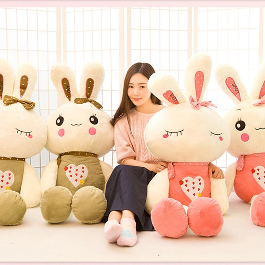 New Cute Rabbit Stuffed Toys Doll Kid Birthday Gift For Children Baby Plush Toys Present Birthday Gifts Pink Plush Doll 70C0144 1 piece 13 8 35cm 2015 new design pink hat my melody cute rabbit stuffed plush toys doll kid s birthday gift