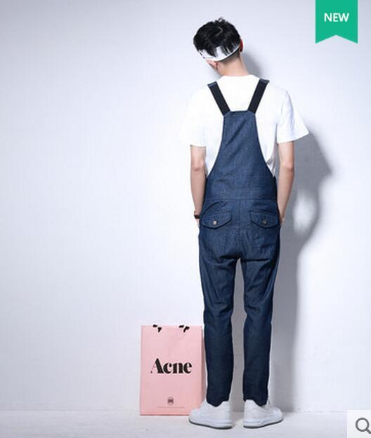 e3ac460133 Summer sling Jumpsuit men jeans pants Jumpsuit clothing fashion slim  electrical workers
