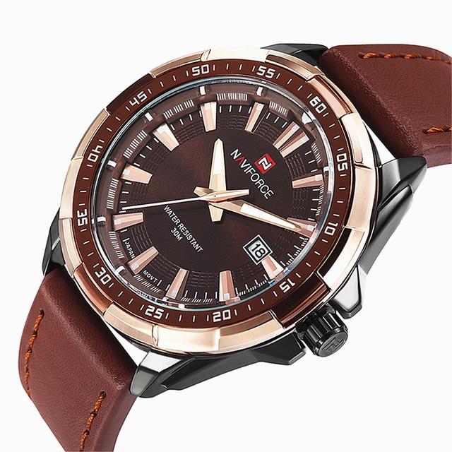 2016 relogio masculino Luxury Brand Genuine Leather Strap Analog Date Men's Quartz Watch Casual Watches Men sport Wristwatch