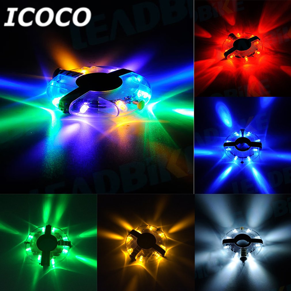 ICOCO Fashion Bicycle HUB Light Bike Wheel Lamp LED Bicycle Decoration Light Waterproof Shockproof Cycling Lamp Bike Accessories